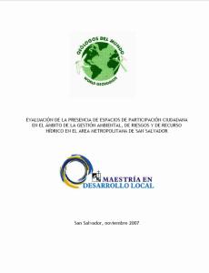 Evaluacion participacio espacios n 2007