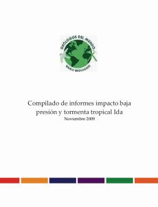 Informe Tormenta IDA noviembre 2009